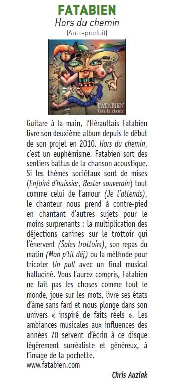 Fatabien - Hors du chemin - Chronique FrancoFans
